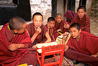 Novice monks at Drepung Monastery. Lhasa. Tibet