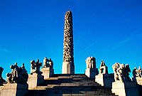 Vigeland´s Monolith and Wheel of Life. Frogner Park. Oslo. Norway