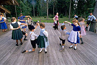 Folk dance. Bavaria. Germany