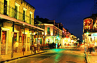 Bourbon street. New Orleans. Louisiana. USA
