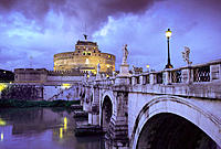 Sant'Angelo Bridge and Castle. Rome. Italy
