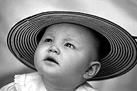 Baby with Italian looking hat
