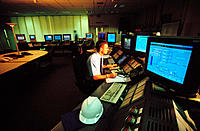 Natural gas fired power plant, control room