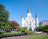 Saint Louis Cathedral, Jackson Square. New Orleans. Louisiana. USA