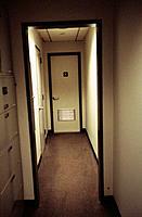 Corridor and door