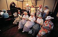 Canada, Saskatchewan, Saskatoon, Western Development Museum, reenactment of St. Peter Church choir c.1913