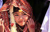 Girl at Jaisalmer desert festival. Rajasthan. India