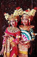 Female dancers. Bali. Indonesia