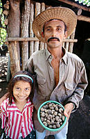 Cashew farmer and daughter. El Salvador