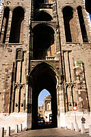 Arched passage under tower. Utrecht. Holland