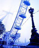 The London Eye, a giant ferris wheel. London. Engand