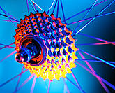 Bicycle wheel and gears