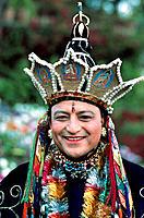 Nepal, Classical Dancer, Manjushree Costume
