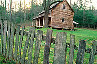 Tipton Cabin. Cades Cove. Great Smoky Mountains National Park. Tennessee. USA
