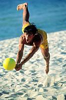 Beachvolleyball, Man, Activity