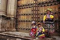 Quechua woman and children. Cuzco. Peru