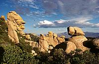 Rock formations on Mount Lemmon. Coronado National Forest. Arizona. USA
