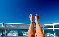 Relaxing on cruise ship