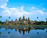 Temple complex of Angkor Wat. Angkor. Cambodia