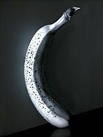 Banana, b/w, Still life