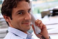 Mann Geschäftsmann Telefon telefonieren Porträt