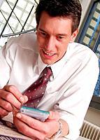 Geschäftsmann Palm Notepad