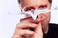 Mann Flieger Papierflieger