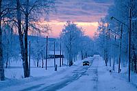 Straße Landstraße Winter Schnee PKW Auto