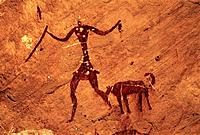 Cave paintings. Akakus Mountains. Lybia