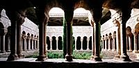 Cloister of the monastery of Santa Maria de l'Estany. Barcelona province. Spain
