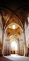 Interior of the Gothic cathedral (La Seu). Lleida. Spain