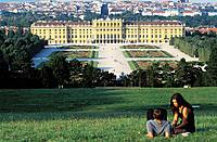 Schönbrunn castle and park. Vienna. Austria