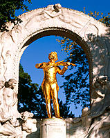 J. Strauss Monument. Vienna. Austria
