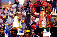 Procession with the images of Saints. Casabindo. Jujuy province. Argentina