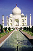 The Taj Mahal, mausoleum of the Empress Mumtaz Mahal. Agra. India