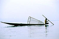 Intha fisherman. Inle Lake. Myanmar