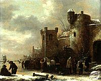 A Canal in Winter Panel Klaese Molenaer (1630-1676/ Dutch) Oil on Wood The Cummer Museum of Art and Gardens, Jacksonville, Florida