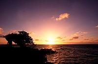 Sunset over the sea, Cudarebe Point, Aruba