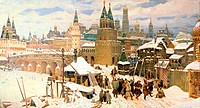 Vsesvyatsky Bridge, Moscow in the 17th Century 1904 Apollinarij Mihajlovic Vasnecov 1856-1933 Russian Yaroslavl Artistic Museum, Russia