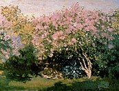 Lilacs in the Sun 1873 Claude Monet 1840_1926/French Oil on canvas Pushkin Museum of Fine Arts, Moscow