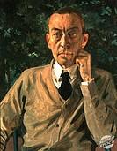 Portrait of Composer Sergey Rachmaninoff 1925 Konstantin Andreevic Somov (1869-1939/ Russian) Russian Museum, St. Petersburg