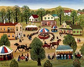 County Fair Konstantin Rodko 1908_1995/Russian Oil on canvas