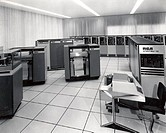 Mainframes in a computer lab