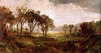 Hastings On Hudson Jasper Francis Cropsey 1823-1900 American Oil on canvas David David Gallery, Philadelphia, Pennsylvania, USA