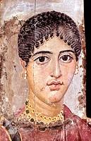 Portrait of a Woman/Mummy Portrait Egyptian Art University of Pennsylvania