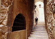 Cúndaro street at the 'Call' (old Jewish quarter). Girona. Spain