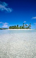 Tapuetai (One Foot island), Aitutaki. Cook Islands