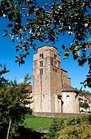 Iglesia de Santa María (11th century). Santa Cruz de la Seros. Huesca province. Spain