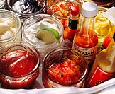 Various sauces and dips for grilled food (2)