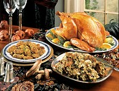 Roast Turkey Buffet with Stuffing